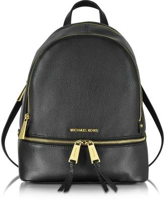 Michael Kors Rhea Zip Black Medium Backpack