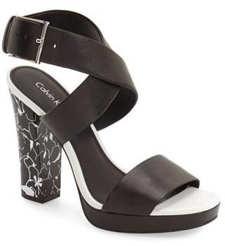 Women's Calvin Klein 'Bao' Platform Sandal $138.95 thestylecure.com