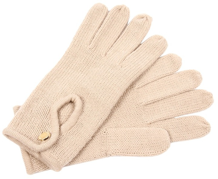 Calvin Klein Keyhole Driving Glove (Oat) - Accessories