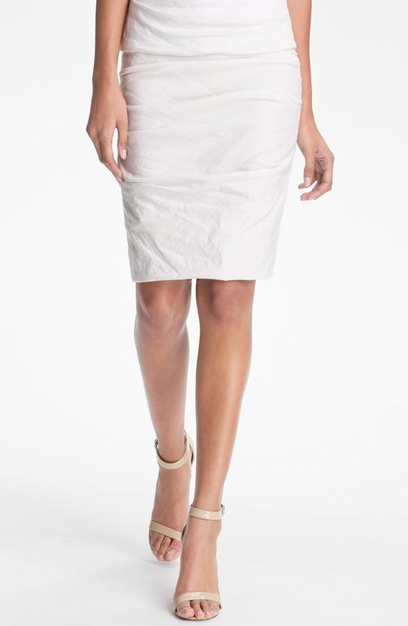 Nicole Miller Shimmer Pencil Skirt