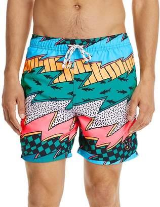 Maui and Sons Thrasher Graphic-Print Swim Shorts