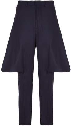He & DeFeber - Dark Navy Virgin Wool Flappy Trousers