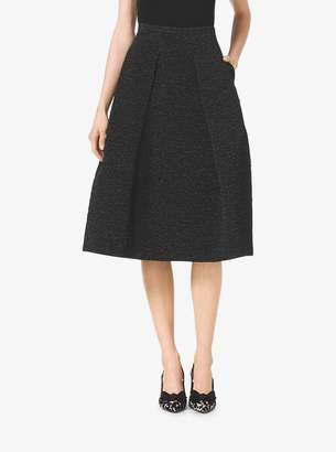 Michael Kors Jacquard-Cloque Midi Skirt