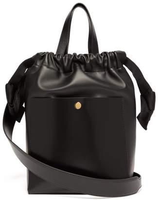 Sophie Hulme Knot Leather Shoulder Bag - Womens - Black