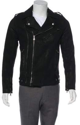 Balmain Woven biker Jacket