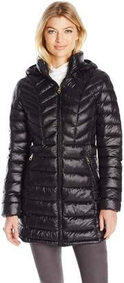 Jessica Simpson Women's Mid Length Packable Puffer Coat