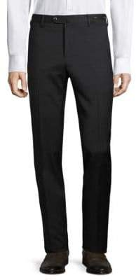 Pt01 Pantaloni Torino Textured Wool Trousers