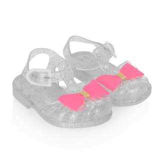 Pate De Sable Pate De SableGlitter Jelly Sandals With Pink Bow