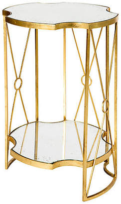One Kings Lane Marlene Two-Tiered Side Table - Gold