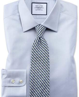 Charles Tyrwhitt Classic fit Egyptian cotton trellis weave grey shirt
