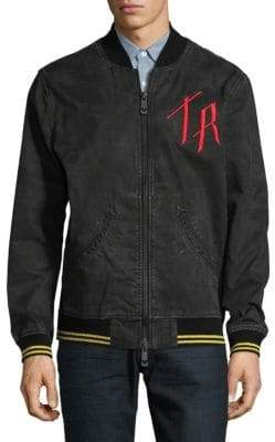 True Religion Embroidered Bomber Jacket
