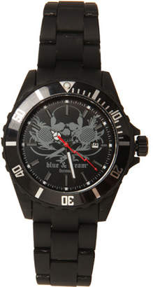 Blue & Cream Blue&Cream Black Skull Timepiece