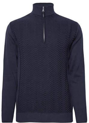 Kjus - Linard Wool-Blend Half-Zip Sweater - Navy