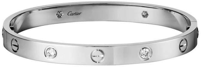 White Gold Diamond Love Bracelet