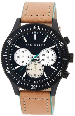 Ted Baker London Men's Black Leather Strap Watch $225 thestylecure.com
