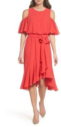 Eliza J Cold Shoulder Dress (Regular & Petite)