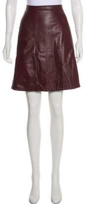 Opening Ceremony Rodarte for Leather Knee-Length Skirt