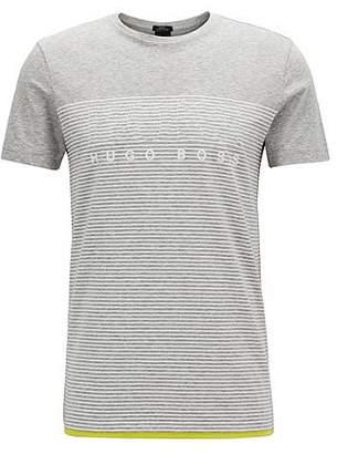 HUGO BOSS Slim-fit striped T-shirt in cotton