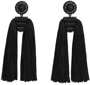 MANGO Fringe beads earrings