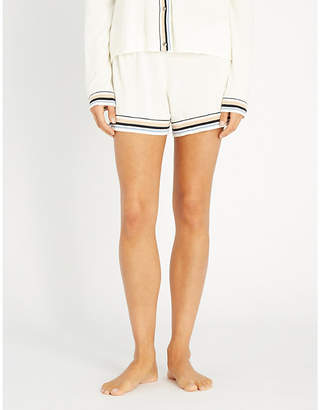 Skin Evie cotton-blend knitted shorts