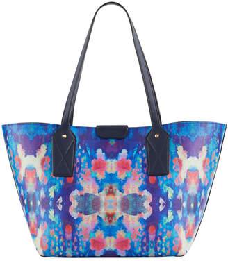 Neiman Marcus Boho Print Shoulder Tote Bag