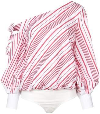Jonathan Simkhai asymmetric striped blouse
