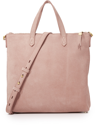 Madewell Suede Mini Transport Tote $148 thestylecure.com