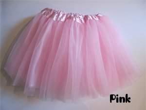 Sassy Pink 3 Layer Basic Ballet Tutu High Quality Satin Waistband Very Stretchy Fit...