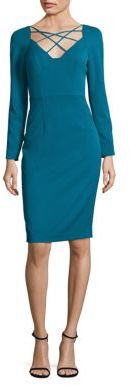Black Halo Masca Jade Sheath Dress $375 thestylecure.com
