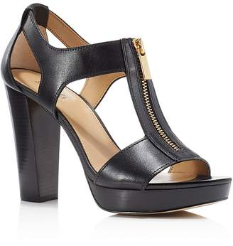 MICHAEL Michael Kors Berkley Zipper Platform High-Heel Sandals