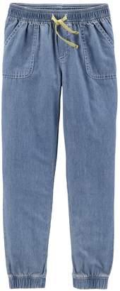 Carter's Girls 4-12 Chambray Jogger Pants