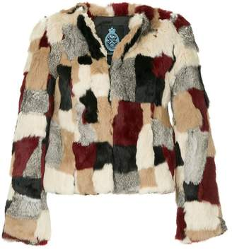 GUILD PRIME patchwork fur jacket