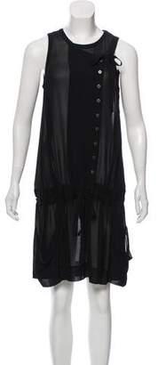AllSaints Silk Sleeveless Knee-Length Dress