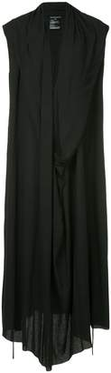 Ann Demeulemeester draped asymmetric maxi dress