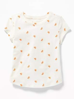 Old Navy Long & Lean Printed Scoop-Neck Tee for Toddler Girls