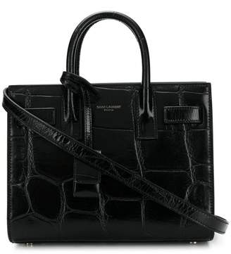 Saint Laurent small crocodile tote bag