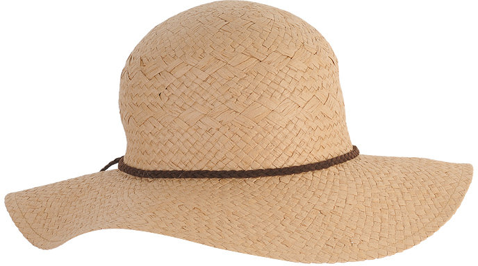 Forever 21 Braided Trim Straw Hat
