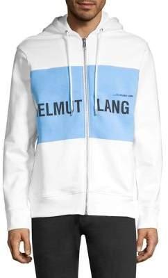 Helmut Lang Printed Zip Front Hoodie
