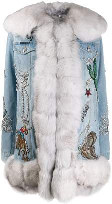 Philipp Plein denim cowboy coat