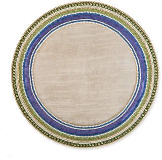 Mackenzie Childs Jeweled Circle Placemat, Thistle
