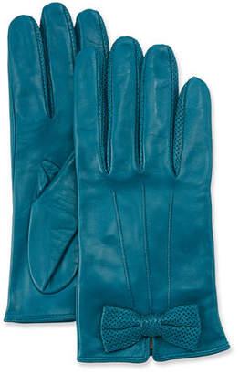 Portolano Napa Leather Gloves w/ Perforated Bow