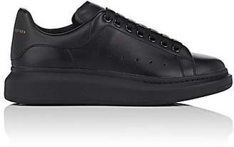 Alexander McQueen Men's Oversized-Sole Leather Sneakers - Black