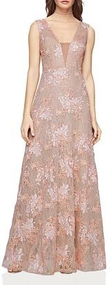 BCBGMAXAZRIA Illusion-Inset Lace Gown $468 thestylecure.com