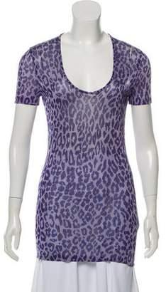 8de21734f7a1 Dolce & Gabbana Semi-Sheer Animal Print Top