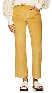 Isabel Marant Women's Mereo Cotton Corduroy High-Rise Pants - Yellow