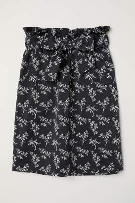 H&M Skirt with Tie Belt - Gray