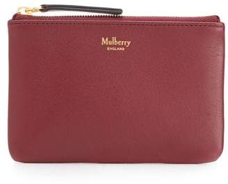Mulberry colour-block coin pouch
