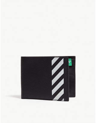 Off-White Striped leather bi-fold wallet