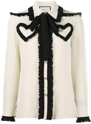 Gucci ruffled heart blouse
