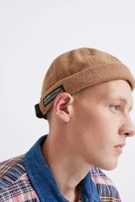 Urban Outfitters Ecru Fleece Docker Cap - beige at